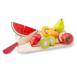 Плодове с дъска за рязане New Classic Toys