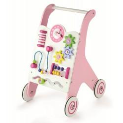 Дървена проходилка в розово 7 в 1 Viga Toys