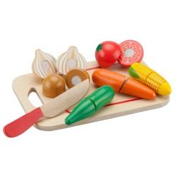 Зеленчуци с дъска за рязане New Classic Toys