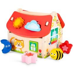 Дървена къщичка за сортиране на форми New Classic Toys