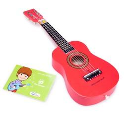 Детска китара червена New Classic Toys