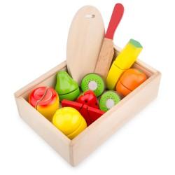 Плодове за рязане в кутия New Classic Toys