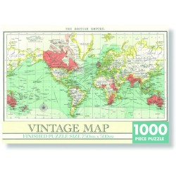 Пъзел 1000 ел. винтидж карта на света