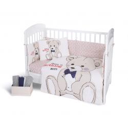 Бебешки спален комплект Kikka Boo 7 части Teddy Bear 70/140 с балдахин