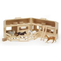 Дървена конеферма с 4 коня Melissa and Doug 13704