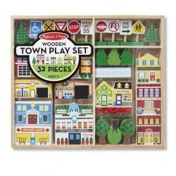 Дървен град комплект Melissa and Doug 14796