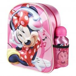Комплект детска раница и бутилка Cerda Minnie 3D 2100003053