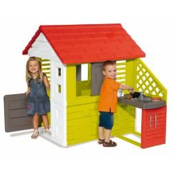 Детска градинска къща с външна кухня - Лятна кухня, Smoby