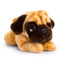 Плюшено легнало куче, Бебе Мопс, 32 см, Keel Toys