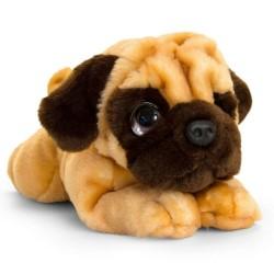 Плюшена играчка, Keel Toys, Легнало куче Мопс, 37 см