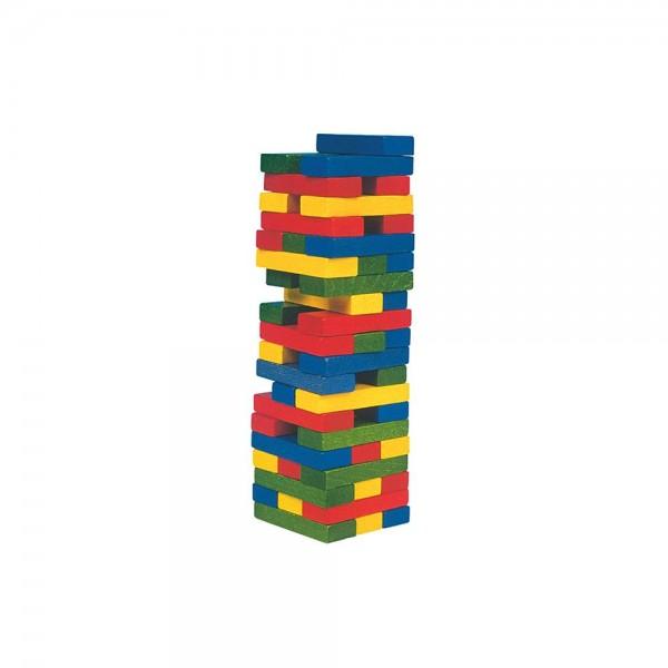 """Балансна кула """"Джeнга"""" със зарче - цветна"""