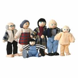 Кукли - семейство, 6 бр. Woody
