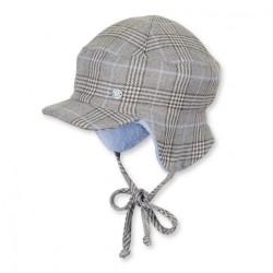 Бебешка шапка Sterntaler, зимна с козирка за момчета