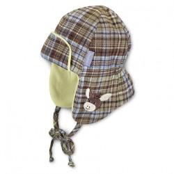 Бебешка шапка Sterntaler, ушанка за момчета магаренце