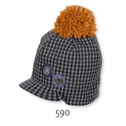 Детска шапка Sterntaler, с пискюл и козирка