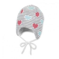 Бебешка шапка Sterntaler, зимна, плетена за момичета