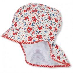 Лятна шапка с UV 50+ защита за момичета с платка на врата Sterntaler