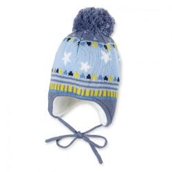 Бебешка шапка Sterntaler, зимна с пискюл