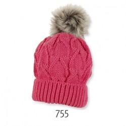 Детска шапка Sterntaler, плетена с пискюл
