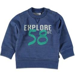 Детска ватирана блуза с принт Babyface