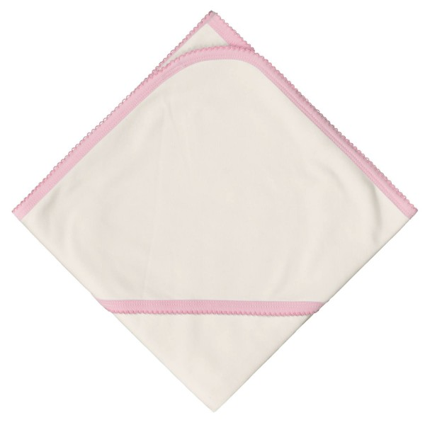 Бебешка пелена Bio Baby, двойна, с качулка с розово бие