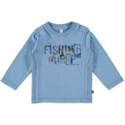 Детска блуза с дълги ръкави в син цвят и щампа Babyface